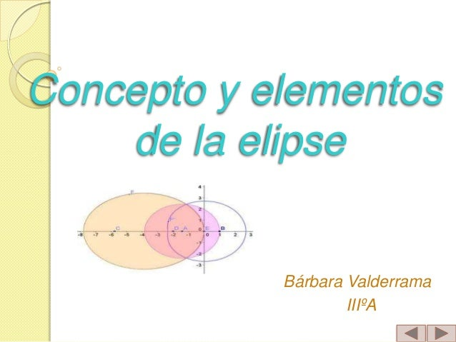Concepto y elementos de la elipse