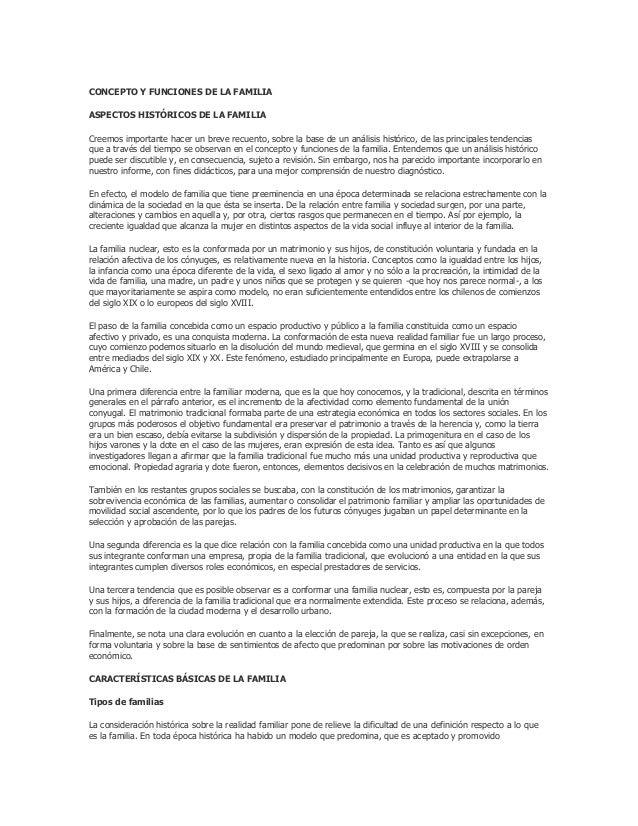 CONCEPTO Y FUNCIONES DE LA FAMILIAASPECTOS HISTÓRICOS DE LA FAMILIACreemos importante hacer un breve recuento, sobre la ba...