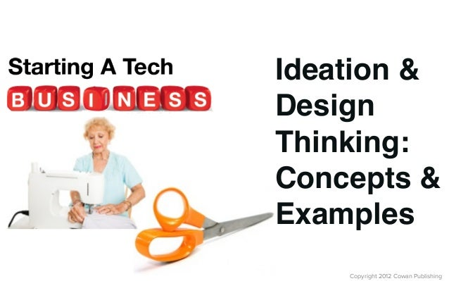 Copyright 2012 Cowan PublishingIdeation &DesignThinking:Concepts &Examples