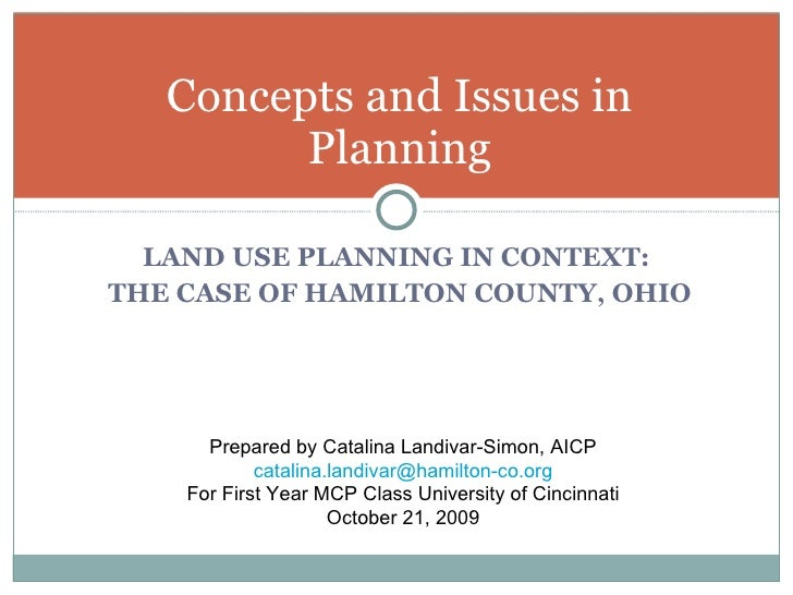 Concepts And Issues In Planning Show