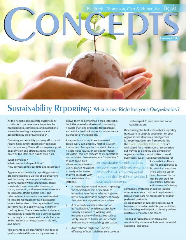 Sustainability Reporting: What is Just Right for your Organization?