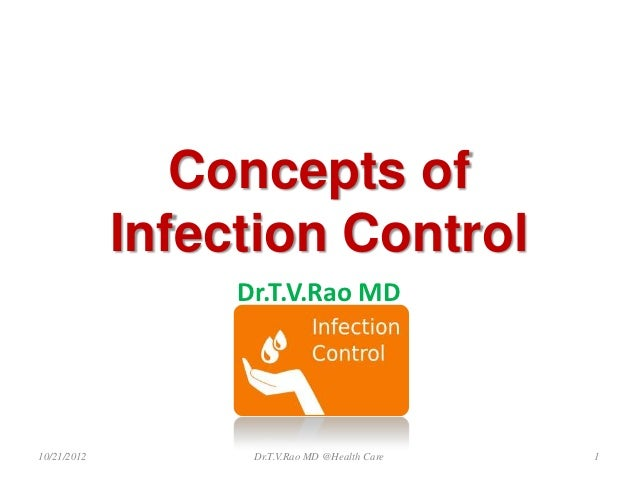 Concepts of             Infection Control                  Dr.T.V.Rao MD10/21/2012         Dr.T.V.Rao MD @Health Care   1