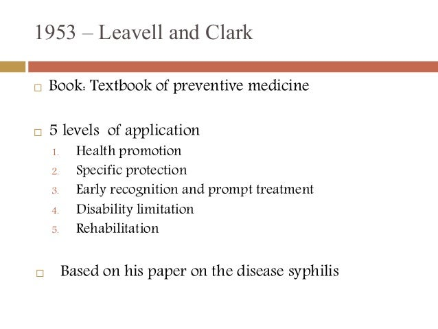 levels of prevention Prevention the iom model:  preventiontactics8:13  groups characterized by different levels iom levels also have important,.