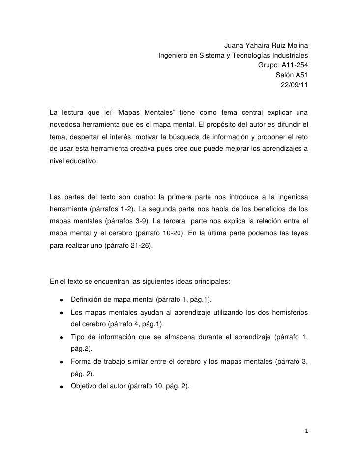 Juana Yahaira Ruiz Molina<br />Ingeniero en Sistema y Tecnologías Industriales<br />Grupo: A11-254<br />Salón A51<br />22/...