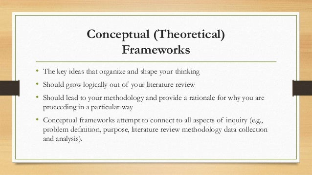 literature review and conceptyal framework