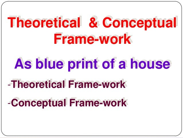 Theoretical & Conceptual Frame-work As blue print of a house -Theoretical Frame-work  -Conceptual Frame-work