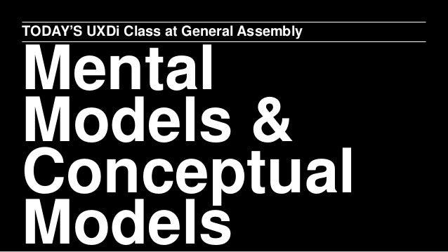 Conceptual models & Mental Models