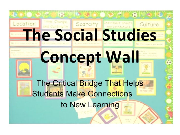 The Social Studies Concept Wall The Critical Bridge That Helps Students Make Connections  to New Learning