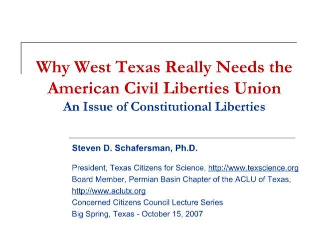 Concerned Citizens Council Lecture Series ACLU: Dr. Steven Schafersman
