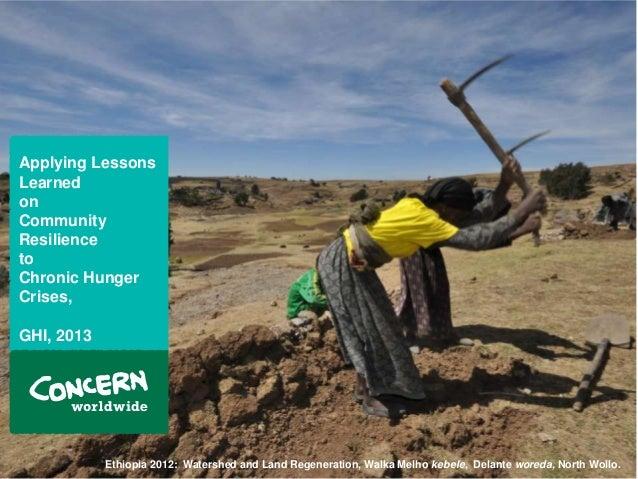 2013 Global Hunger Index Launch Event Concern Worldwide Presentation