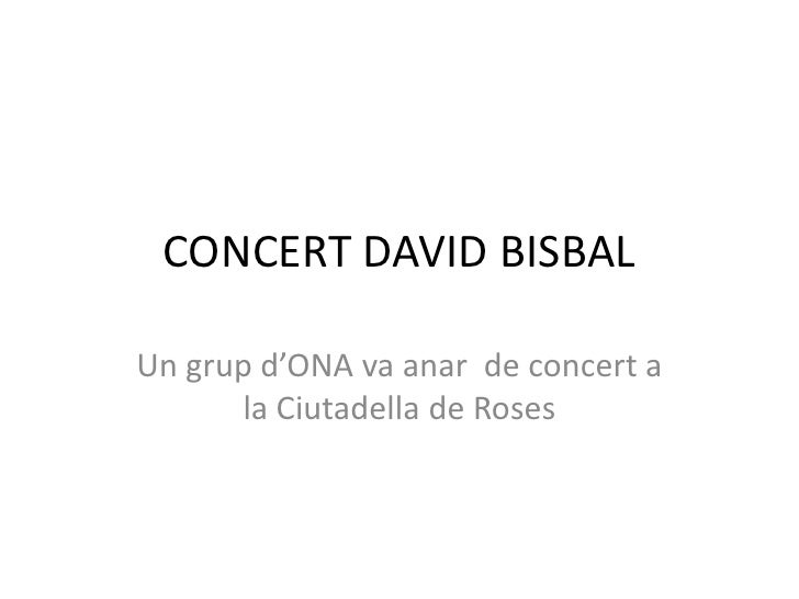 Concert david bisbal
