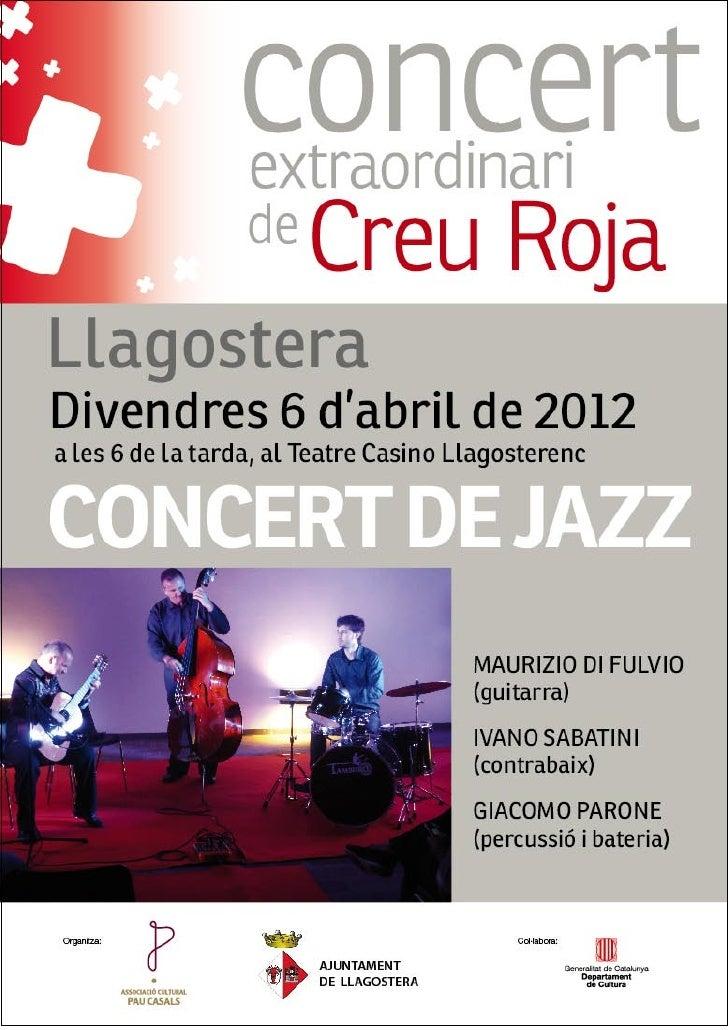 Concert de jazz a llagostera 6 4-2012