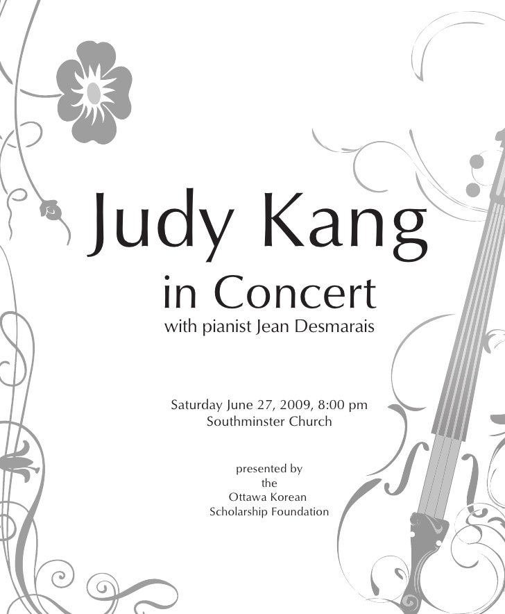Judy Kang Violin Concert
