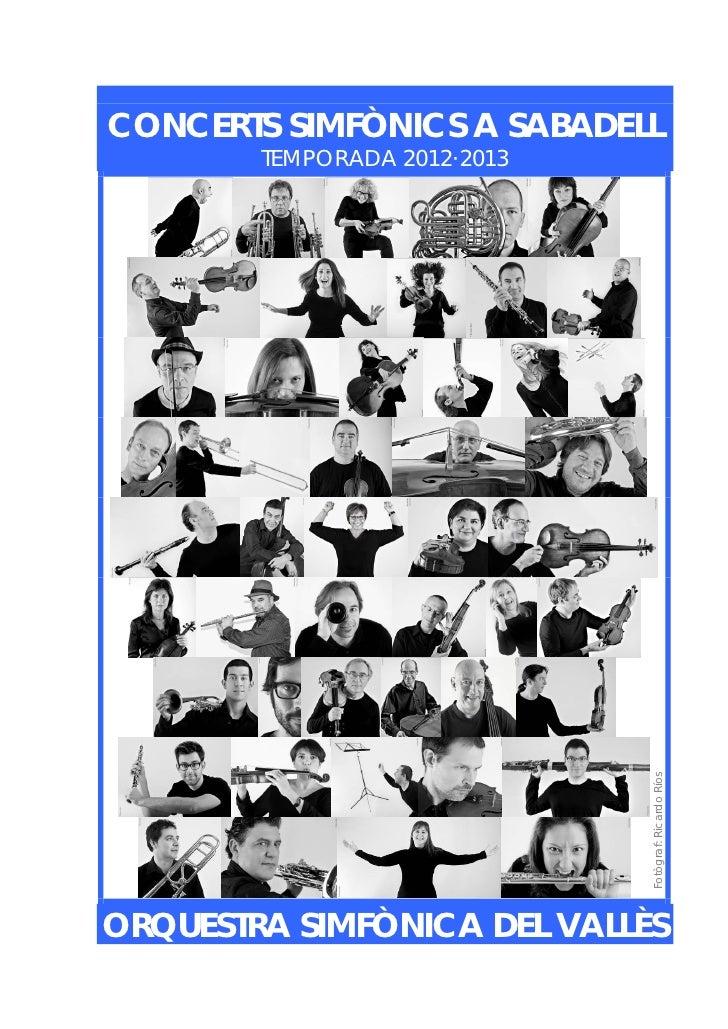 Concerts simfònics a sabadell  tda  12-13