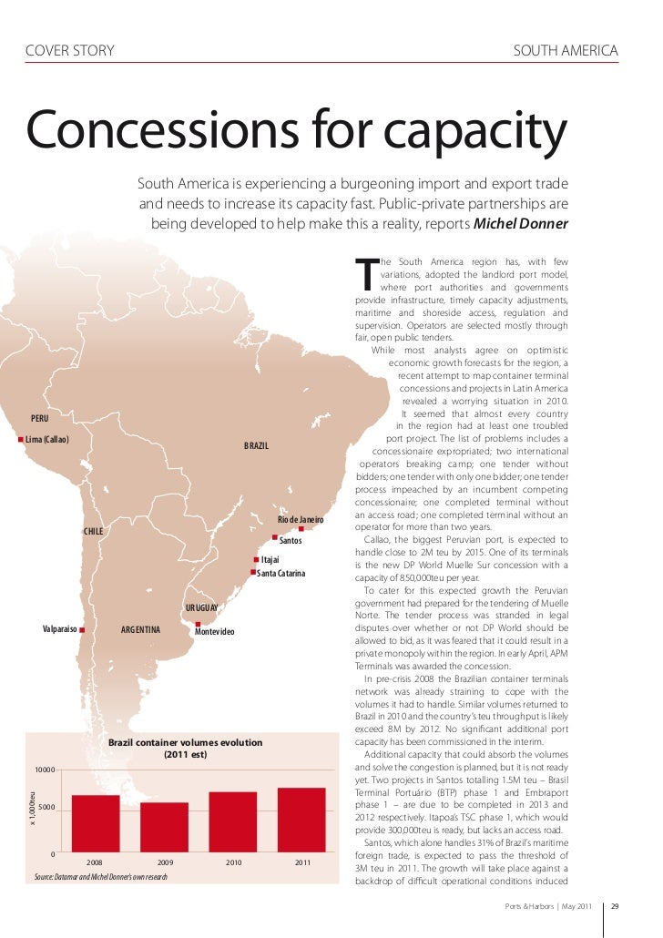 Concessions For Capacity; Ports & Harbors, May 2011 Issue Of The IAPH Official Magazine