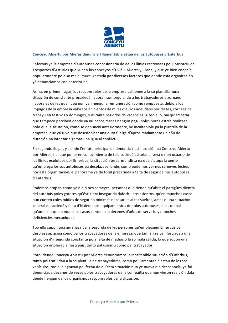 Conceyu Abiertu por Mieres denuncia