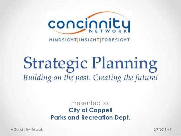 Strategic Planning     Building on the past. Creating the future!                            Presented to:                ...
