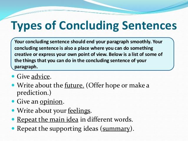 last sentence of an essay