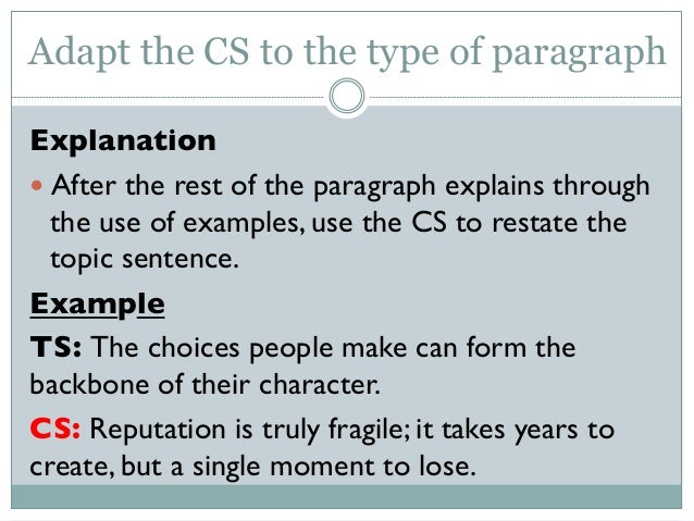How to write a concluding sentence on a paragraph?
