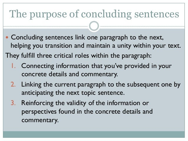 Concluding sentence help?!?
