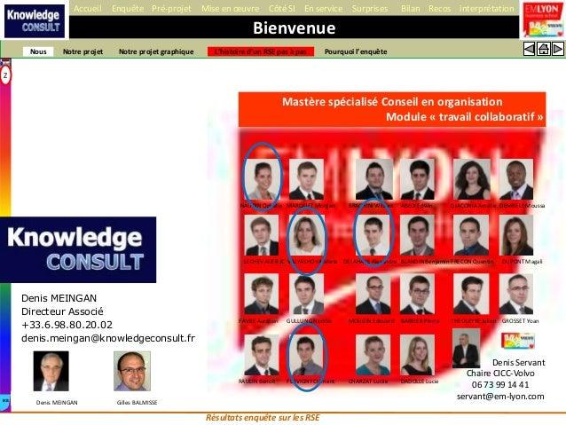 Accueil     Enquête Pré-projet        Mise en œuvre       Côté SI En service         Surprises         Bilan Recos interpr...
