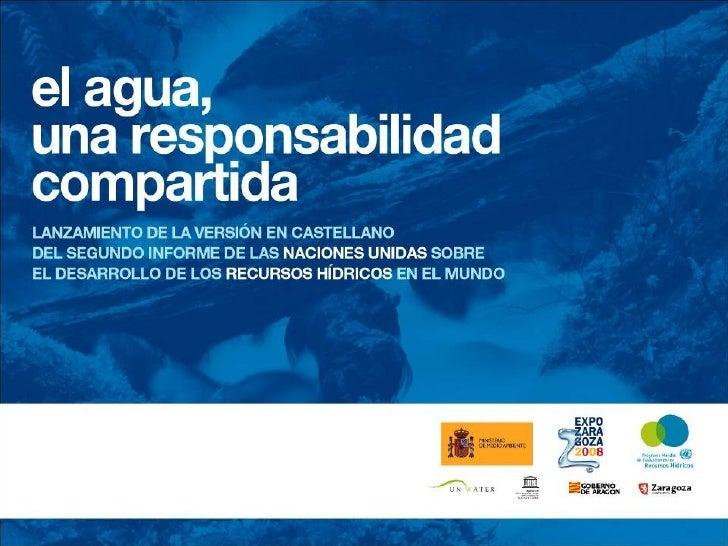 Conclusiones de las Jornadas Internacionales de la Unesco sobre el agua en el mundo