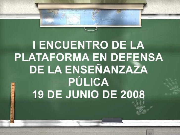 Conclusiones1 Encuentroescuelapublica