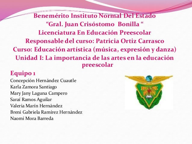 "Benemérito Instituto Normal Del Estado ""Gral. Juan Crisóstomo Bonilla "" Licenciatura En Educación Preescolar Responsable d..."