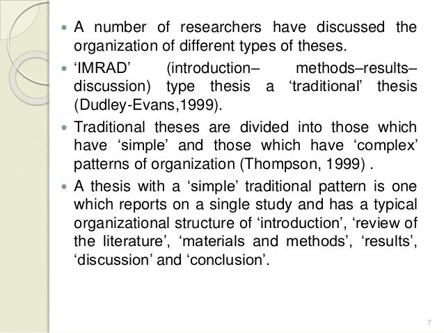Discussion Conclusions Dissertation