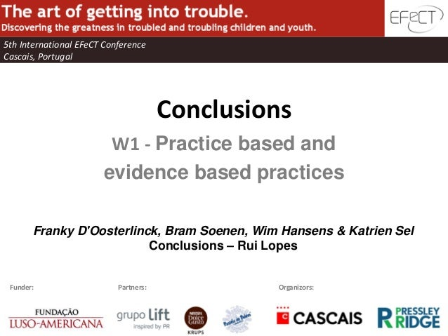 EFeCT Conference w1 Conclusions