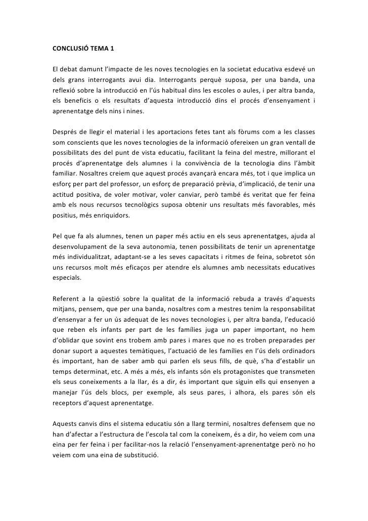 Conclusió Tema 1