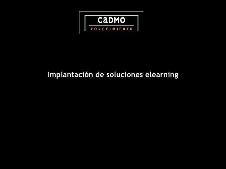 Implantación de soluciones elearning