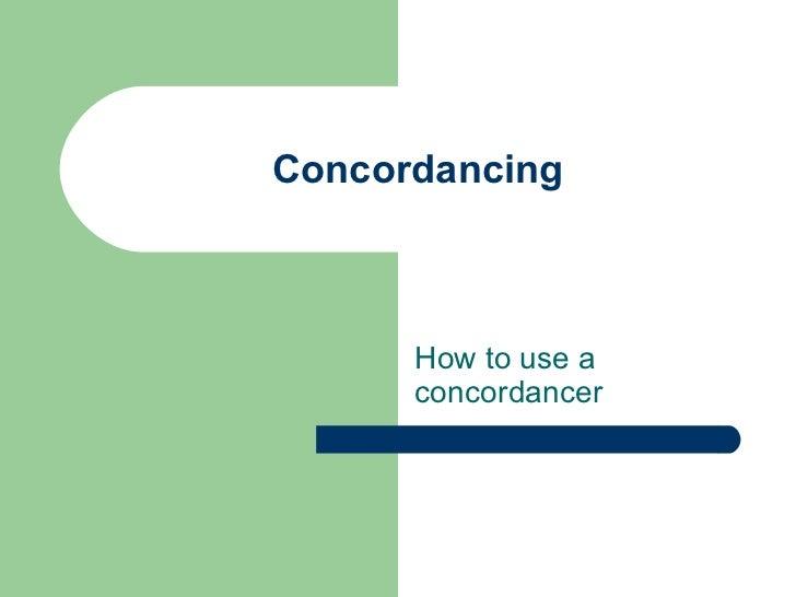 Concordancing