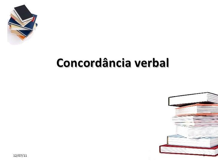 Concordância verbal 12/07/11