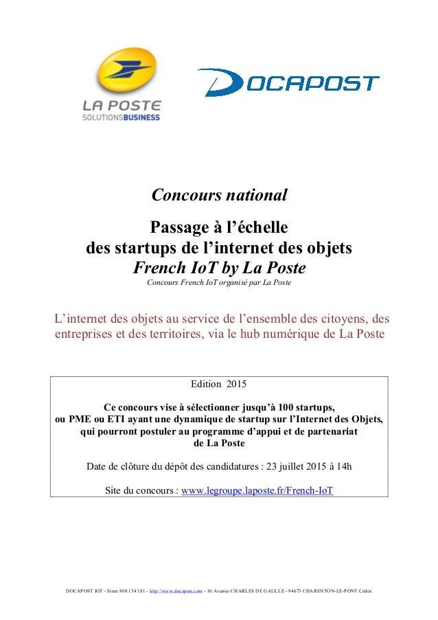 DOCAPOST IOT - Siren 808 154 181 - http://www.docapost.com - 10 Avenue CHARLES DE GAULLE - 94673 CHARENTON-LE-PONT Cedex C...