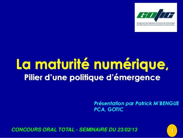 Concours oraltotal   seminaire du 230213 - presentation gotic - v3[1]
