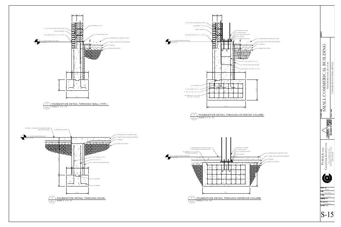 Concrete footing details for Concrete pillars for foundation