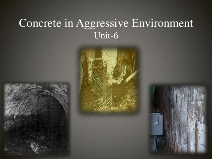 Concrete in Aggressive Environment