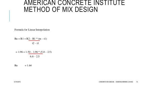 Concrete Mix Design Formula : Concrete mix design