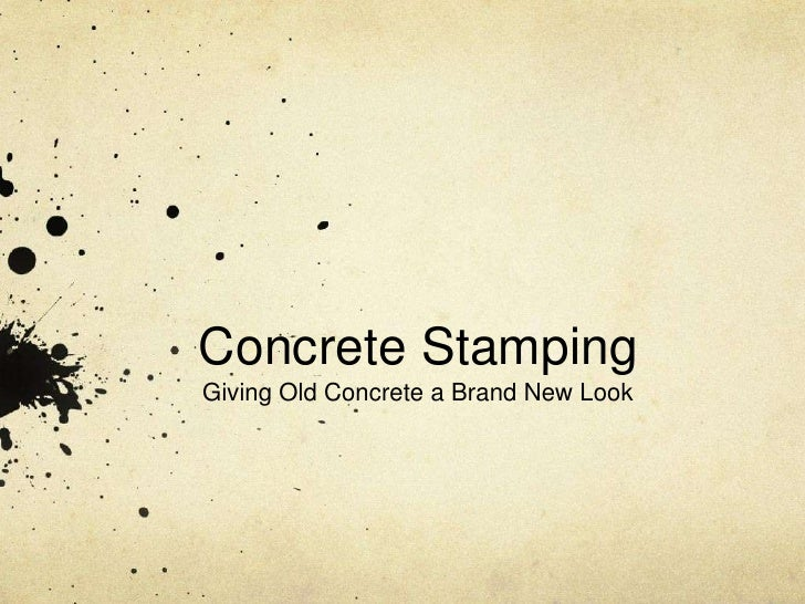 Concrete StampingGiving Old Concrete a Brand New Look