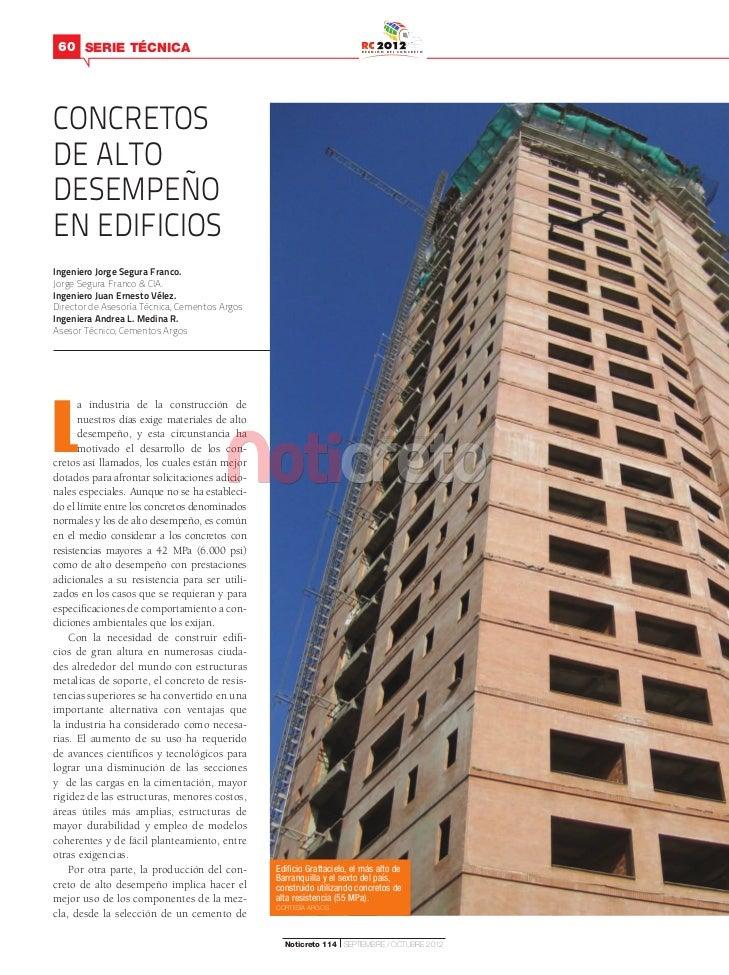 Concretos de alto desempeño en edificios