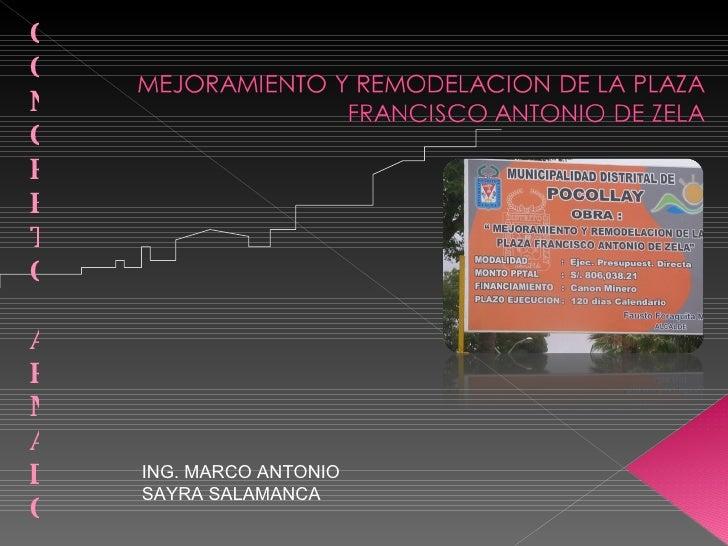 CONCRETO ARMADO ING. MARCO ANTONIO SAYRA SALAMANCA