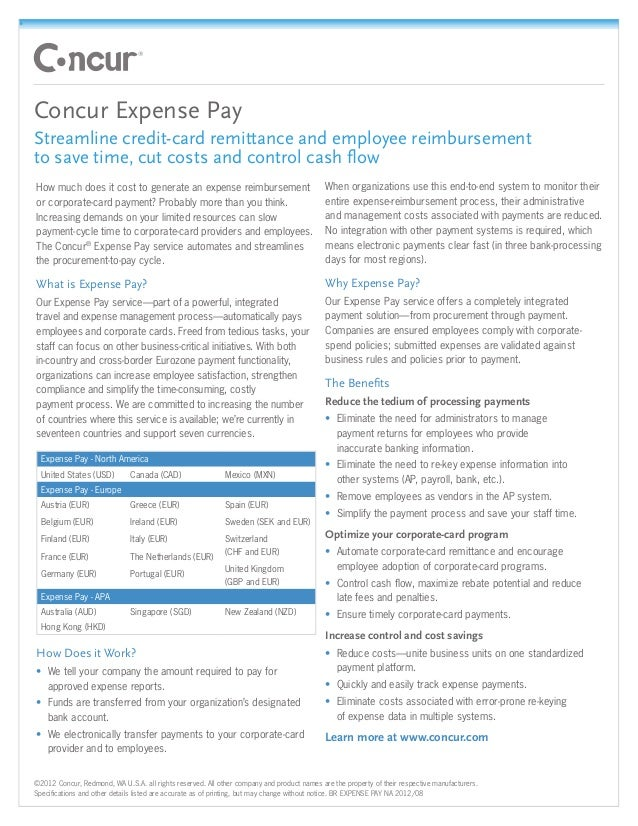 Concur expense pay
