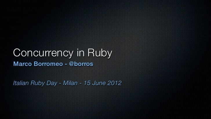 Concurrency in ruby