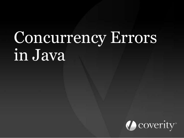 Concurrency Errors in Java