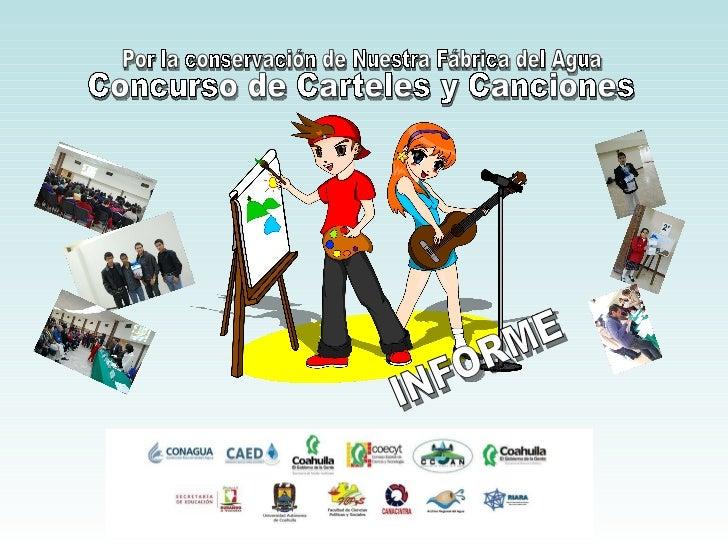 Reporte del Concurso de Carteles y Canciones