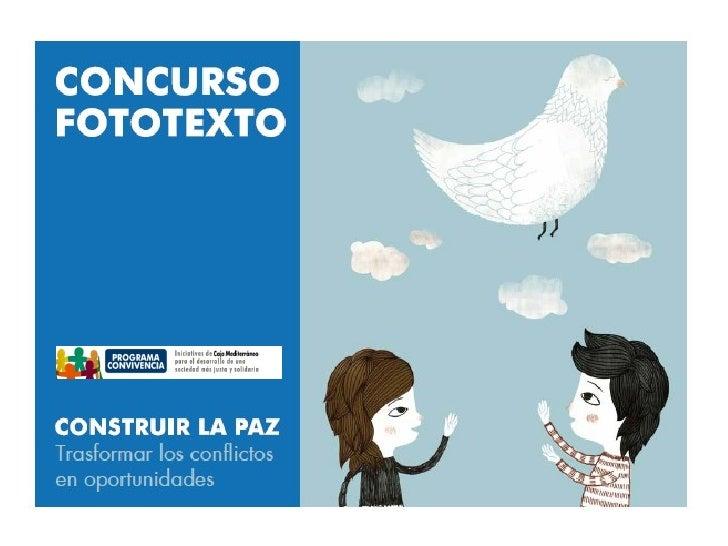 Concurso Fototexto - Programa Convivencia CAM
