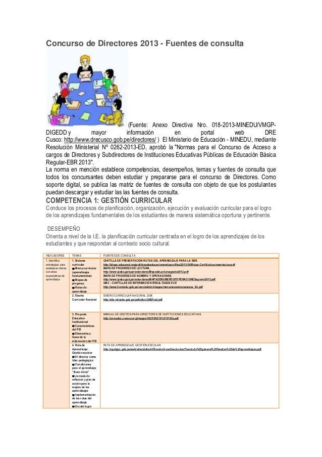 Concurso de directores 2013
