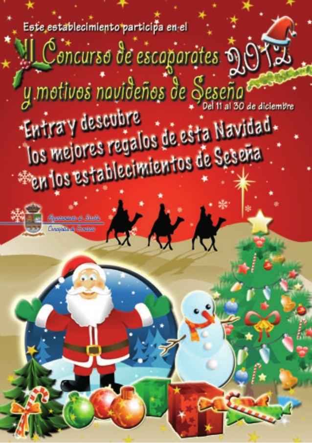 II CONCURSO DE ESCAPARATES  Y MOTIVOS  NAVIDEÑOS  SESEÑA 2012