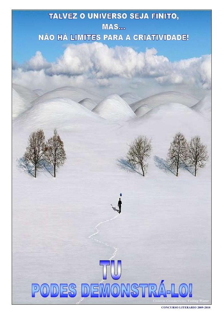 Concurso literário 2009 2010 - cartazes, prof.ª conceição ludovino